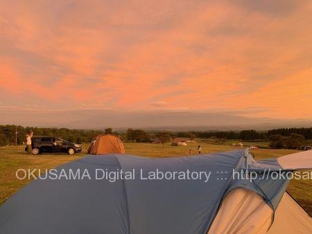 夕暮れ-ボイボイキャンプ場